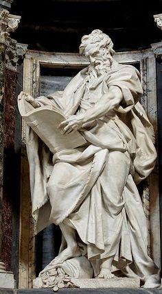 """St. Matthew the Evangelist"" by Camillo Rusconi (1708-1718) Basilica of St. John Lateran, Rome"