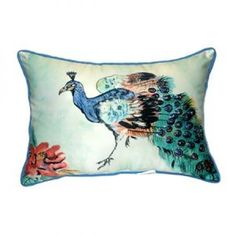 Garden Betsy's Peacock Decorative Pillow   These versatile pillows ...