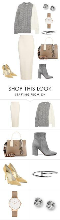 """""""Untitled #423"""" by mary-en ❤ liked on Polyvore featuring Yeezy by Kanye West, Moncler, Marc Jacobs, Gianvito Rossi, Stuart Weitzman, Cartier, Daniel Wellington, FOSSIL and autumn"""