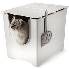 Modko Katzenklo mit Klappdeckel, leicht zu reinigen, flexibel einstellbar, nahtfrei: Amazon.de: Pet Supplies