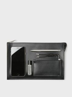 Campbell Cole Black Simple A5 Pouch