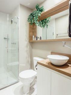 20 apês pequenos que provam que dá pra viver bem com pouco espaço - Casa #banheiro #espelho