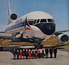 Vintage Aircraft Delta Air Lines TriStar Air Festival, Commercial Aircraft, Civil Aviation, Air Travel, Air Lines, Vintage Airline, Vintage Travel, Vintage Ideas, Vintage Photos