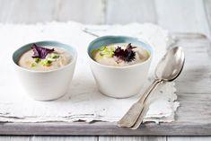 Roasted Cauliflower, Leek and Garlic Soup