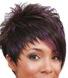 short haircut styles for black hair - Black Haircut Styles Funky Short Hair, Short Thin Hair, Short Hair Cuts For Women, Short Choppy Hair, Modern Short Hair, Short Asymmetrical Haircut, Short Cuts, Very Short Haircuts, Latest Short Hairstyles