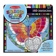 Melissa  Doug Stained Glass Made Easy Activity Kit: Butterfly - 140+ Stickers