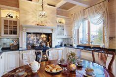 Дизайн интерьера кухни для загородного дома. Стиль прованс