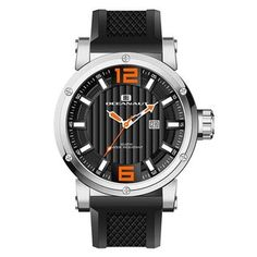 This classic timepiece by Oceanaut features a stainless steel case and silicon strap. A black dial, precise quartz movement and a water-resistance level of up to 100 meters finish this fine timepiece.