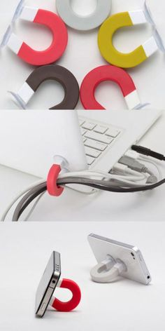 What a great idea! magnets to keep it neat