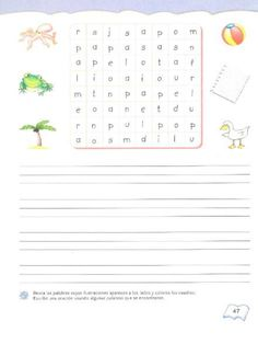 Mis primeras letras libro actividades