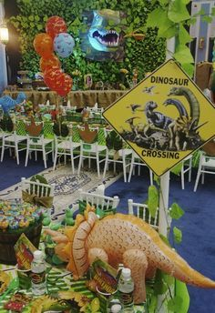 Incredible Dinosaurs Birthday Party! See more party ideas at CatchMyParty.com!