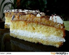 Šlehačkovo-ovocný řez Vanilla Cake, Cheesecake, Food, Cheesecakes, Essen, Meals, Yemek, Cherry Cheesecake Shooters, Eten