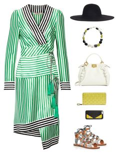 """""""Dolce Vita Jasmyn Lace Up Gladiator Sandals"""" by sol4nge ❤ liked on Polyvore featuring Etro, Dolce Vita, Fendi, Valentino and John Lewis"""