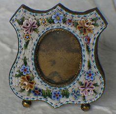 Vintage micro mosaic   Beautiful vintage miniature micro mosaic picture frame   eBay
