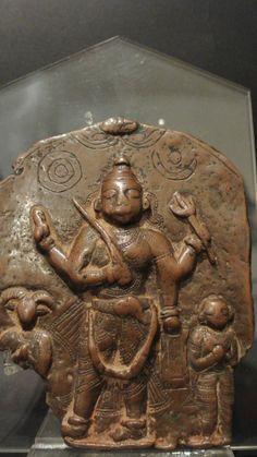 Antico #Virabhadra In Rame Placca processionale di Virabhadra (nella forma adirata di Siva) in rame a cera persa, XVII secolo, India meridionale. H: 13 cm. More info: Website: www.arte-orientale.com Email: arteorientale.bo@gmail.com