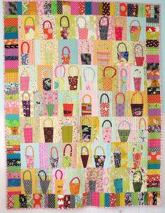 Basket Quilt by BlueElephantStitches, via Flickr (gwen marston baskets - handles appliqued)