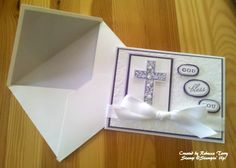 Idea using Stampin' Up! Crosses of Hope stamp set.