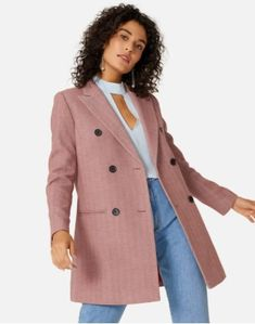 Moda Online, Business Outfits, Ideias Fashion, Coat, Toque, Products, Long Coats, Full Sleeves