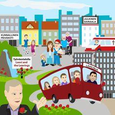 Millainen olisi SDP:n unelmakaupunki?  kuntavaalit 2017 -illustration @ Stina Tuominen