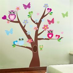 Best price on Cute Owls Tree Wall Stickers Room Decorations //    Price: $ 11.90  & Free Shipping Worldwide //    See details here: http://mrowlie.com/product/cute-owls-tree-wall-stickers-room-decorations/ //    #owl #owlnecklaces #owljewelry #owlwallstickers #owlstickers #owltoys #toys #owlcostumes #owlphone #phonecase #womanclothing #mensclothing #earrings #owlwatches #mrowlie #owlporcelain