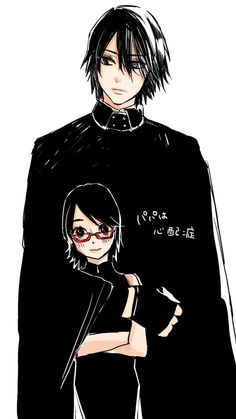 Sasuke and Sarada Uchiha #Naruto