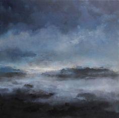 Klikk for å lukke bilde, klikk og dra for å flytte. Abstract Landscape, Night Time, Serenity, Landscapes, Moon, Clouds, Stars, Painting, Outdoor