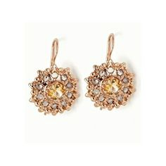 Starburst Earrings - Arik Kastan Citrine, Rough-cut Diamond, 14kt Rose Gold
