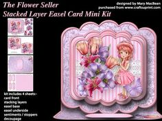 The Flower Seller Stacked Layer Easel Card Mini Kit on Craftsuprint - View Now!