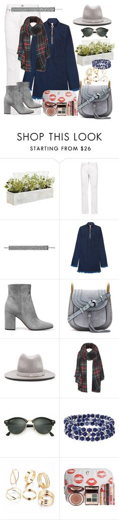 """""""fashion rebel"""" by daincyng ❤ liked on Polyvore featuring Pier 1 Imports, R13, Marques'Almeida, Gianvito Rossi, Chloé, rag & bone, Topshop, Ray-Ban, Chaps and Charlotte Tilbury"""