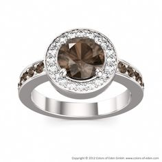 Smoky Quartz Engagement Ring Ecstasy #silver #quartz #ring