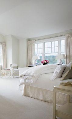 White Bedroom by Alexa Hampton via AD