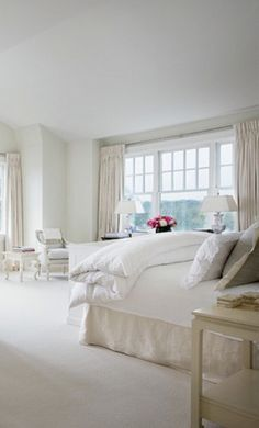 White Bedroom by Alexa Hampton via AD