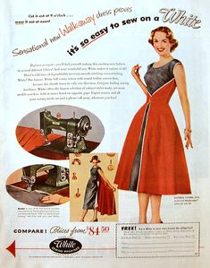 """A Vintage 1950s """"Walkaway"""" Dress - The City of Roses Dress   Edelweiss Patterns Blog"""