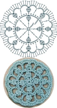 No 34 starburst medallion lace crochet motifs 스타버스트 모티브도안 – Artofit Easy Crochet Stitches, Crochet Mandala Pattern, Crochet Diagram, Crochet Chart, Crochet Patterns, Knitting Patterns, Crochet Flower Squares, Crochet Round, Crochet Flowers