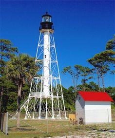 Cape San Blas Lighthouse, Florida at Lighthousefriends.com