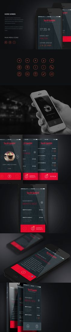 Mobile website for sushi restaurant