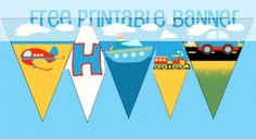 Freebie Friday! | {Transportation Party Banner!} - Creative Kristi Free Printable Banner, Free Banner, Printable Party, Cars Birthday Parties, Birthday Ideas, Kid Parties, Transportation Party, Construction Party, Boy First Birthday