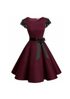 Touch of lace Belted Midi Dress - Fashion/ Beauty - - Designer Dresses Couture Junior Dresses, Short Dresses, Girls Dresses, Formal Dresses, Event Dresses, Mini Dresses, Stylish Dresses, Wedding Dresses, Pretty Dresses