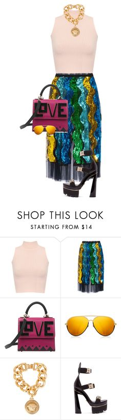 """Sem título #334"" by celsoromera on Polyvore featuring moda, WearAll, Gucci, Linda Farrow e Versace"