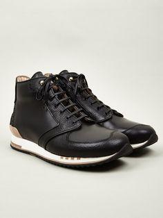 Alexander McQueen Men's Black High Top Sneakers
