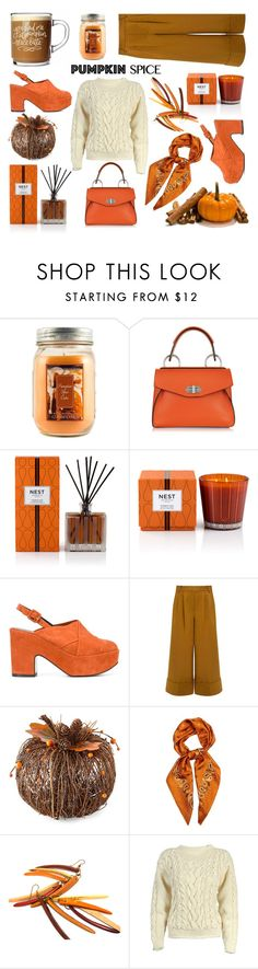 """""""If Only She Could Sing, """"Pumpkin Spice"""" Might Have Been A Spice Girl"""" by sharee64 ❤ liked on Polyvore featuring Holiday Memories, Proenza Schouler, Nest Fragrances, Robert Clergerie, TIBI, E L L E R Y and malo"""