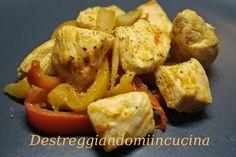 Destreggiandomi in cucina: Bocconcini di pollo e peperoni alla curcuma #pollo #chicken #peperoni #topinambur #pepe #curcuma #pepperoni