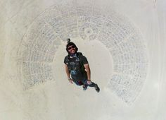 Skydiving Into Burning Man