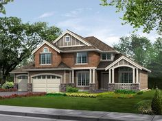 2-Story House Plan, 035H-0006 could be made smaller (3 bedrooms & main flr laundry & office)