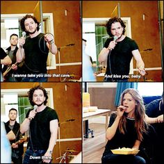 Kit Snow.... ;-) Kit Harington and Rose Leslie from the Coldplay GoT musical for Red Nose Day