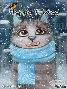 cat-winter-friday-gif-fridayquotes-cat-winter-friday-gif-happy-friday-friday-qu/ - The world's most private search engine Happy Friday Gif, Good Morning Happy Friday, Friday Cat, Friday Meme, Blessed Friday, Good Morning Greetings, Happy Gif, Saturday Quotes, Its Friday Quotes