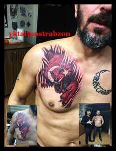 wolf color tattoos trabzon