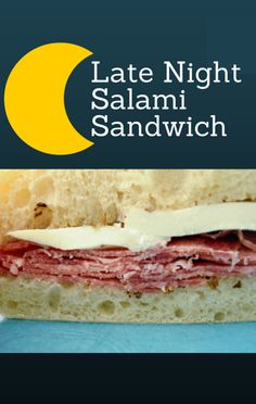 Michael Symon made a Late Night Salami Sandwich recipe on The Chew. http://www.foodus.com/the-chew-michael-symon-late-night-salami-sandwich-recipe/