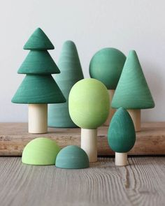 Handmade Wooden Trees Gives 6 meals : Handmade Wooden Forest - Painted Gives 6 meals – Odin Parker Wooden Baby Toys, Wood Toys, Wood Kids Toys, Wooden Tree, Wooden Diy, Diy Sensory Board, Baby Sensory, Toy Trees, Stacking Toys