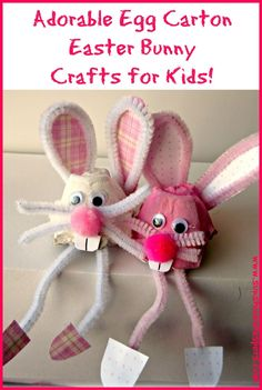 egg carton easter bunny crafts for kids
